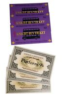 Billete Anden 9 y 3/4 y Ticket Bus Noctambulo Harry potter opción pulsera snicht