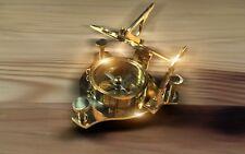 Handgefertigte Messing Sonnenuhr mit Kompass, Sundial with Compass (brass)