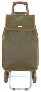 Strong Suede Large Folding 2 Wheeled Shopping Trolley Cart Expandable Huge Bag