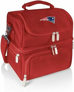 PICNIC TIME NFL New England Patriots Pranzo Insulated Lunch Tote - RED