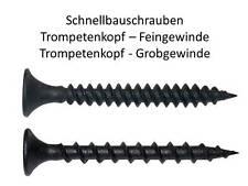 Feingewinde Grobgewinde 150St/300St/500St/1000St Schnellbauschrauben Trockenbau