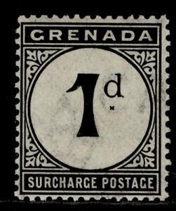 GRENADA EDVII SG D8, 1d blue-black, LH MINT.