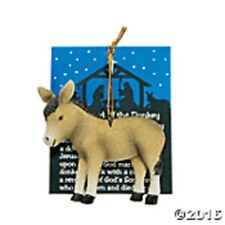 LEGEND OF THE DONKEY ORNAMENT ON CARD CHRISTMAS PARTY FAVOR RESIN