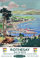 TU44 Vintage Rothesay Isle Of Bute Railway Travel Poster Print A2/A3