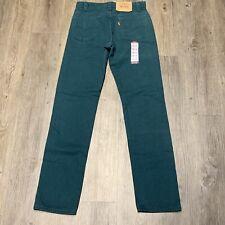 Vintage 90s Levis 505 40505-2936 28x32 Green Orange Tab Denim Jeans Usa RARE
