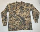 Vintage 90s Jerzees Outdoors Mossy Oak Forest Camo Long Sleeve T-Shirt Men's M