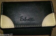 Fabretti Black/Beige Wallet w/ Change Compartment