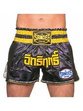 Sandee Supernatural Power Shorts Black Carbon Gold Muay Thai Kickboxing K1 Mma