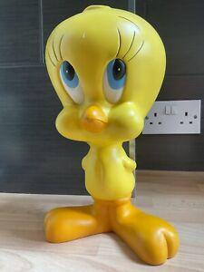 "Warner Brothers Bros Collectible 1997 Large Tweety Pie Bird Figure/statue 11"" Vg"