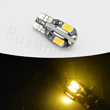 50X  Amber T10 Canbus wedge globe 5730 8SMD LED Car Light Bulbs side indicators