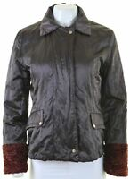 GUESS Womens Over Jacket Size 42 Medium Brown Polyester  NR09