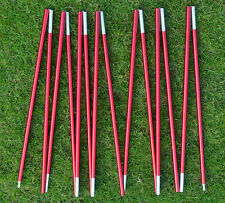 1pcs Red Camp 14 Section Aluminum Alloy 11mm*560cm Spare Replacement Tent Poles