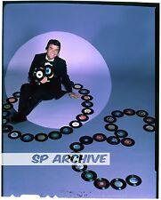 "1980s Original 4x5 Transparency Host DICK CLARK ""AMERICAN BANDSTAND"" BLOOPERS 03"