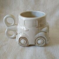 """Fitz and Floyd Ceramic Wind-Up Key Toy Car Cup Coffee Tea """"Auto""""  Mug Excellent"""