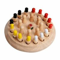 Kids Wooden Chess Memory Match Stick Puzzle Children Early Educational Game