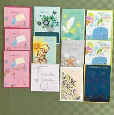 Hallmark American Greeting Other Assorted New Lot 12 Cards Envelopes AsstDesigns