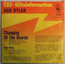 Bob Dylan - Changing Of The Guards - 1978 - Germany - Promo 45 & Sleeve - New