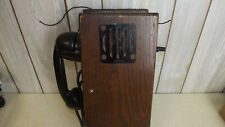 Antique Hand Crank Wall Phone Untested See photos Model: 145-w-m