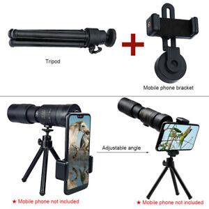 4K 10-300X40mm Super Telephoto Zoom Monokular Teleskop tragbar mit Stativ Neu -