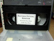 PATTERN FITTING SEMINAR Bruce Oleyar 1992 dress-making video VHS