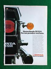 PV125 Pubblicità Advertising Clipping 31x23 cm - MOTO HONDA CB 125 X