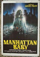 MANHATTAN BABY LUCIO FULCI ORIGINAL ITALIAN MOVIE POSTER HORROR 4 SH GREAT RARE