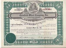 Cornfield Wheel Company Inc.(Michigan).1929 Stock Certificate