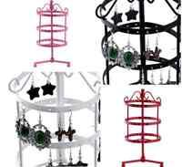 72 Holes Metal Rotating Earrings Display Stand Holder Tree Rack Hanger