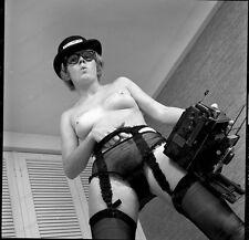2.25 Orignal Negative Sexy Model Pin Up Stocking Garter 1966 #2016211
