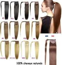 Rajout Queue de Cheval Postiche Extension Cheveux 100% naturels Ponytail 48 H