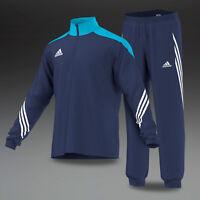 Boys Kids adidas tracksuit Full Zip Football Tracksuits Bottoms Jogging Navy
