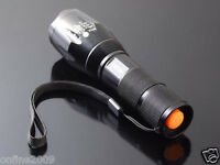 1600 Lumen CREE XM-L T6 LED Zoomable Flashlight Torch Outdoors Lamp Light+Holder