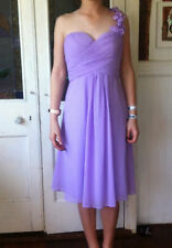 Ever Pretty Evening One Shoulder Formal Bridesmaid Dress Size 8 Purple Mauve