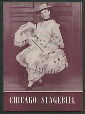 Vtg Program Chicago Stagebill Shubert Theatre Bloomer Girl Nanette Fabray 1946