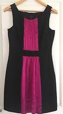 WAYNE BY WAYNE COOPER WOMENS DRESS TAILORED BLACK PURPLE LINED SILK STRETCHY SZ