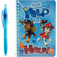 New Nickelodeon PAW PATROL Blue set Notebook & pen Memo PAD  just yelp for help