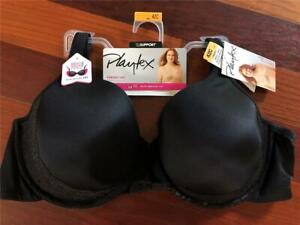 NWT PLAYTEX PERFECT LIFT UNDERWIRE LIGHTLY LINED FULL COVERAG BRA BLACK M301 42C