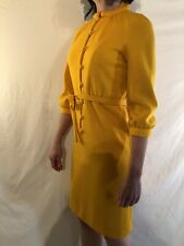 New listing Vintage 1960 Dress Bright Yellow With Matching Belt