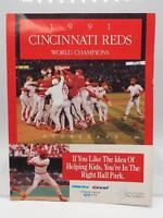 Vintage Cincinnati Reds Baseball Scorecard 1991