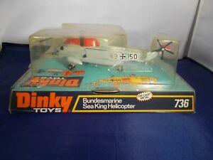 dinky 736 bundesmarine sea king helicopter vintage boxed 1973
