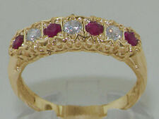Birthday Ruby Yellow Gold Natural Fine Gemstone Rings