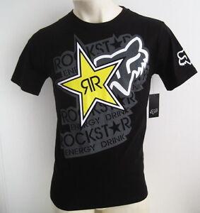 FOX RACING ROCKSTAR Mens Premium T-shirt Tee Size M L XL XXL black hurley new