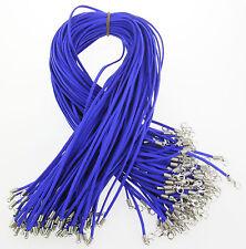 Al por mayor 10 piezas zafiro Piel De Ante Cuerda 50.8cm Cordones Para Collar