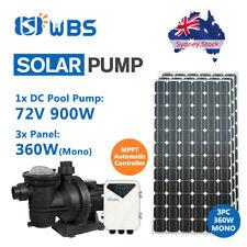 Off Grid Solar Pool Pump Kits: DC 900W 72V Pump + 3pcs 360W Mono Solar Panels