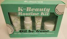 Glow Studio Oil Be Gone K-Beauty Routine Kit 5.2oz - Green Tea Moisturizer, NEW!