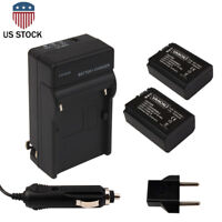 2pcs NP-FW50 Batteries + Charger for SONY F3 NEX-5N FW50 NEX-5C NEX-C3 Alpha