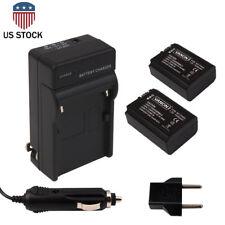 2pcs NP-FW50 Batteries + Charger for SONY F3 NEX-5N FW50 NEX-5C NEX-C3 Alpha