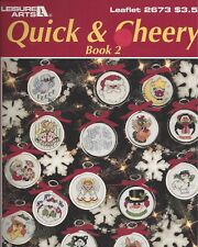 Quick & Cheery Box 2 Holiday Ornaments,  Cross stitch Leaflet