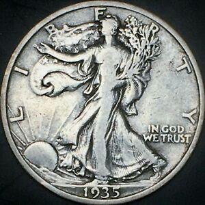1935 Walking Liberty Half Dollar - VF - 90% Silver 50C