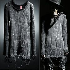 ByTheR Men's Unique Casual Grunge Paint Custom Vintage Knit Top Sweatshirts AU